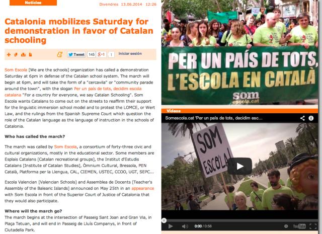 Catalonia mobilizes